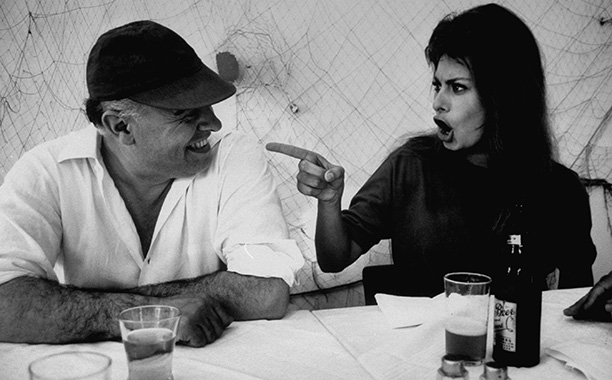 Sophia Loren | Photographer Alfred Eisenstaedt, who shot Loren for seven LIFE magazine covers, snapped this photo of the actress playfully berating her film producer husband. She met…