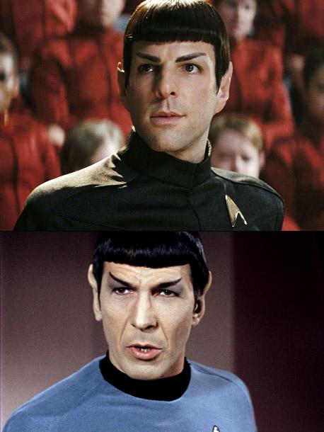 Star Trek | Younger version: Zachary Quinto (2009's Star Trek ) Older version: Leonard Nimoy (the original 1966-69 Star Trek series, the first six Star Trek movies, and…