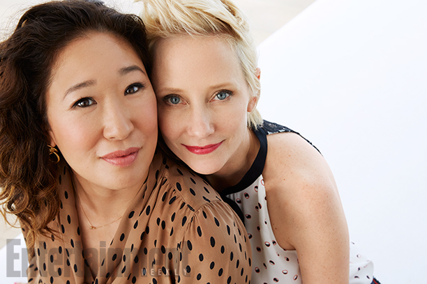 Sandra Oh and Anne Heche, Cat Fight