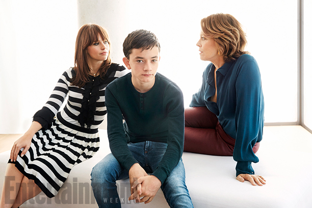 Felicity Jones, Lewis MacDougall and Sigourney Weaver, A Monster Calls