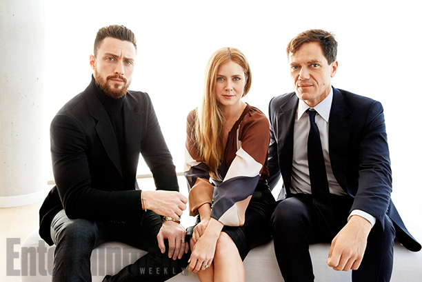 Aaron Taylor Johnson, Amy Adams and Michael Shannon, Nocturnal Animals