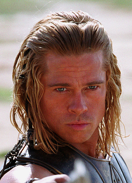 Fabio would be proud of the long, loose curls and messy braids, but it's a little hard to take a Greek warrior like Achilles seriously…
