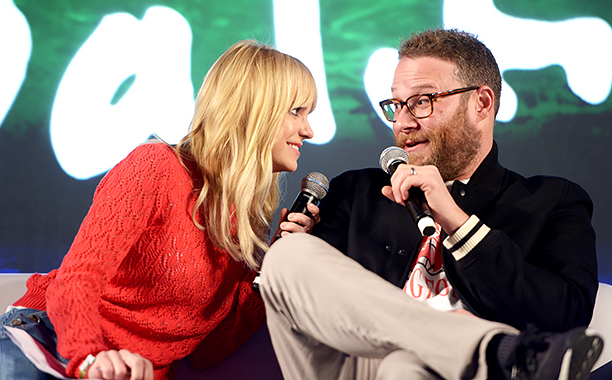 Anna Faris (Anna Faris is Unqualified) and Seth Rogen