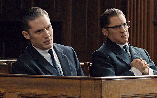 Tom Hardy as Reggie and Ronnie Kray in Legend