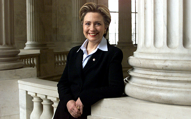 Hillary Rodham Clinton in the Russell Senate Office Building on Capitol Hill on March 13, 2001