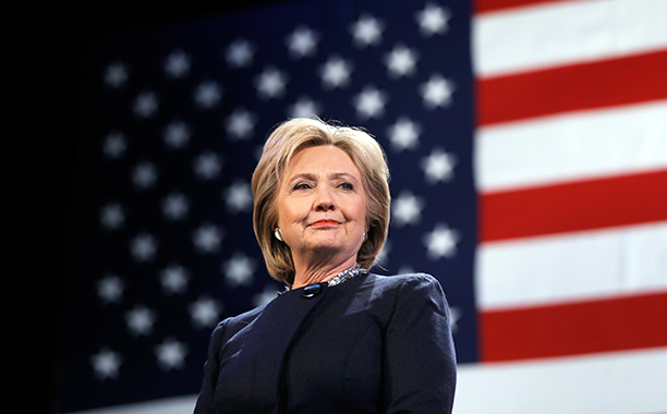 Hillary Rodham Clinton in Rochester, New Hampshire on January 22, 2016