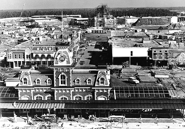 Construction of Main Street U.S.A.
