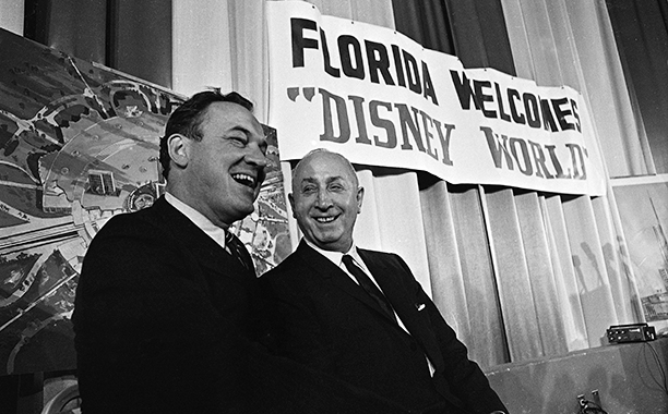 Florida Governor Claude Kirk and Roy Disney Announce Disney World Project in February 1967