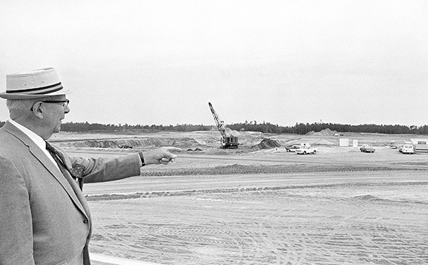Disney World Construction Area in May 1969