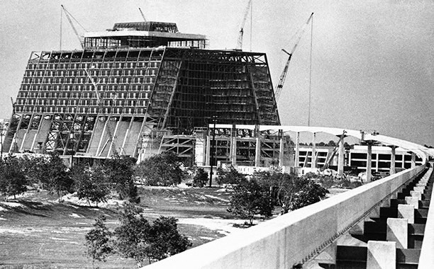 Contemporary Hotel Under Construction in July 1971