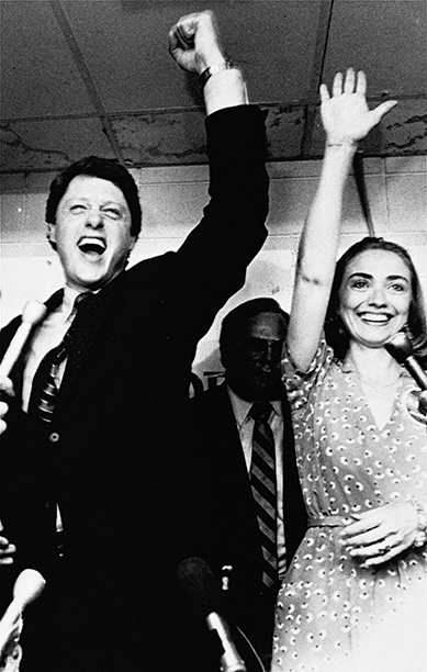Hillary Rodham Clinton With Bill Clinton Celebrating His Victory in the Democratic Runoff in Little Rock, Arkansas on June 8, 1982