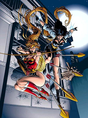 Wonder Woman | Who can forget the brief period in the mid-'90s when redheaded Amazonian Artemis became the new Wonder Woman, forcing Diana to wear a new costume…