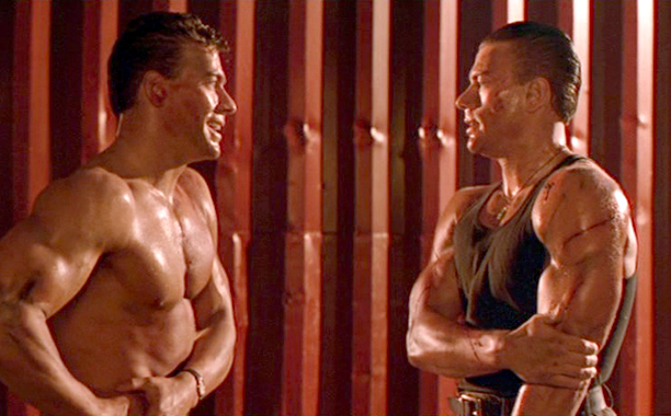 Jean Claude Van Damme as Alex and Chad Wagner in Double Impact