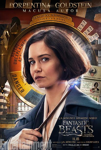 Katherine Waterston as Tina Goldstein
