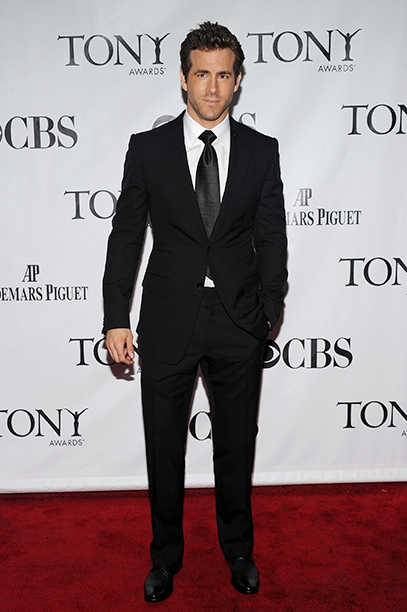 Ryan Reynolds at the 64th Annual Tony Awards in New York City on June 13, 2010