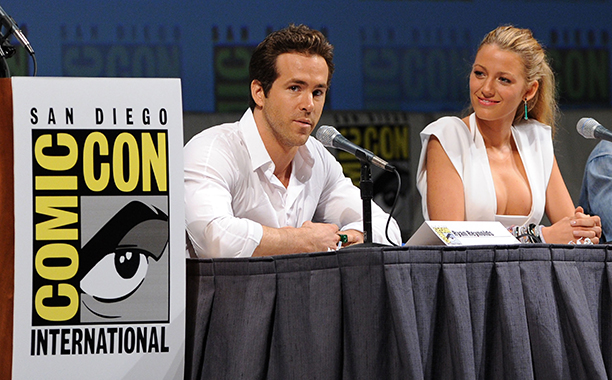 Ryan Reynolds With Blake Lively at the Green Lantern Panel at Comic-Con 2010 in San Diego on July 24, 2010