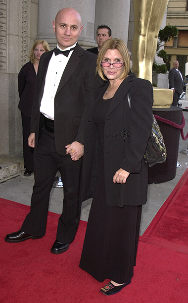 Carrie Fisher With Alan Bernstein at the 2001 Golden Heart Awards in Los Angeles on May 18, 2001