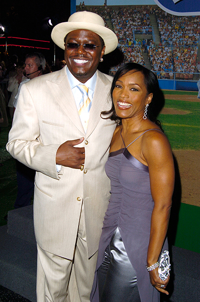 Bernie Mac With Angela Bassett at the Mr. 3000 Premiere in Hollywood on September 8, 2004