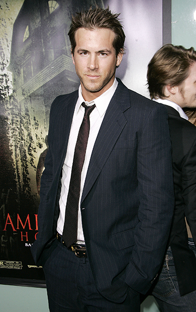 Ryan Reynolds at the Amityville Horror World Premiere in Hollywood on April 7, 2005