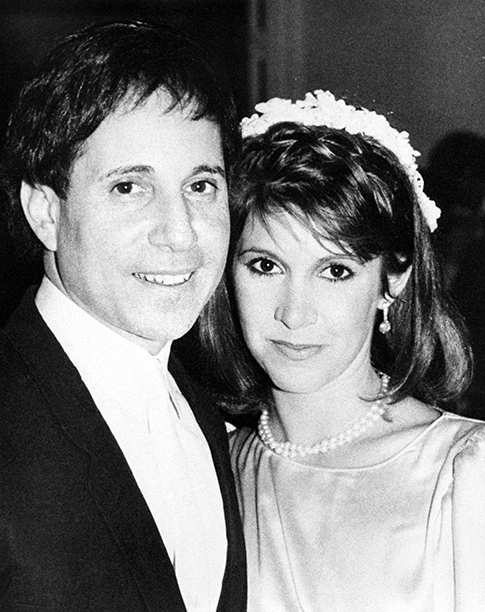 Carrie Fisher With Paul Simon at Their Wedding in New York City on August 16, 1983