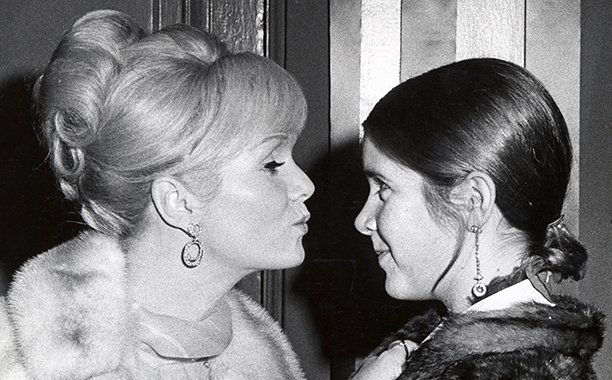 Carrie Fisher With Debbie Reynolds at Town Hall in New York City on November 6, 1972