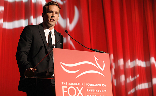 Ryan Reynolds at the 2008 Benefit for The Michael J. Fox Foundation at the Sheraton New York Hotel on November 5, 2008