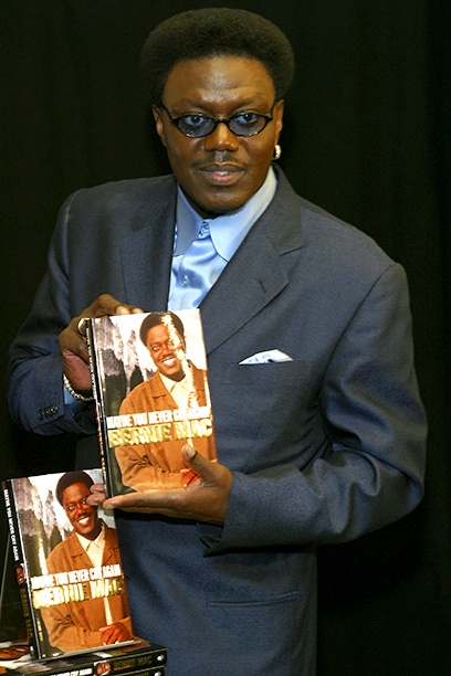 Bernie Mac Signing Copies of May You Never Cry Again at Barnes & Noble in New York City on May 1, 2003
