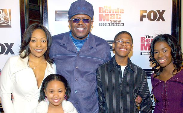 Bernie Mac With Kellita Smith, Jeremy Suarez, Dee Dee Davis, and Camille Winbush Celebrating The Bernie Mac Show's 100th Episode on January 19, 2006