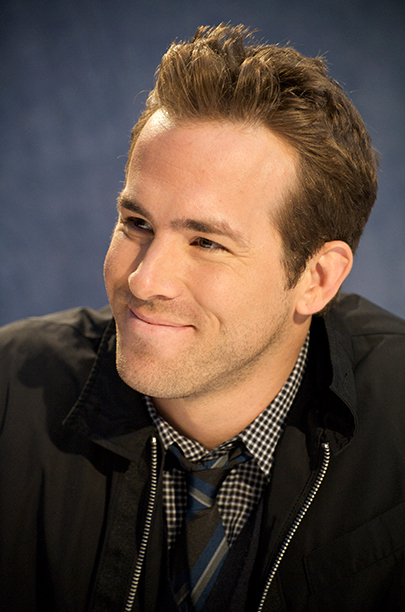 Ryan Reynolds at the X-Men Origins - Wolverine Press Conference in Los Angeles on April 24, 2009