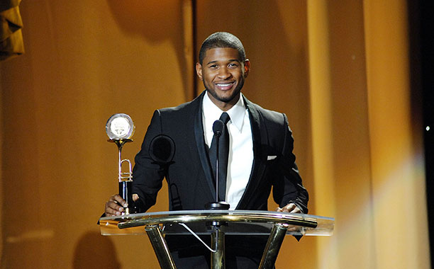 Usher at the 16th Annual Trumpet Awards in Atlanta on January 13, 2008