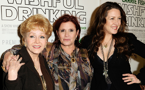 Carrie Fisher With Debbie Reynolds and Joely Fisher at the Premiere of Wishful Drinking on December 7, 2010