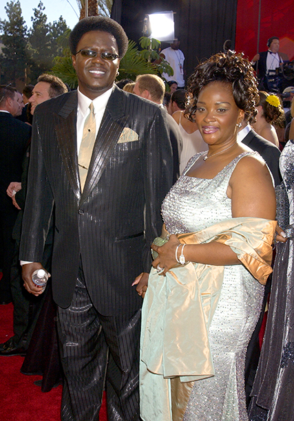 Bernie Mac With Rhonda McCullough at the 54th Annual Primetime Emmy Awards on September 22, 2002