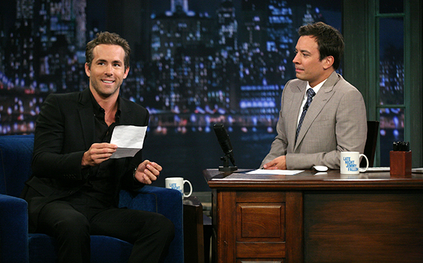 Ryan Reynolds on Late Night with Jimmy Fallon on August 4, 2011