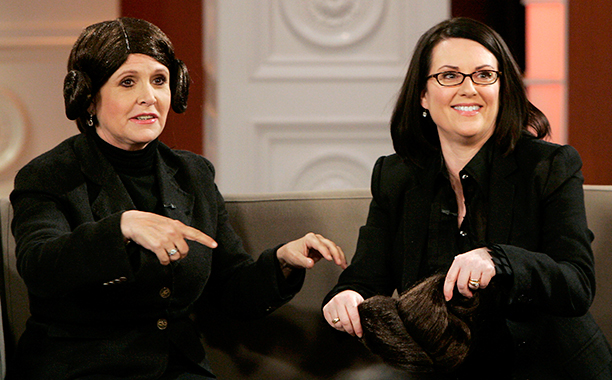 Carrie Fisher on The Megan Mullally Show on December 1, 2006
