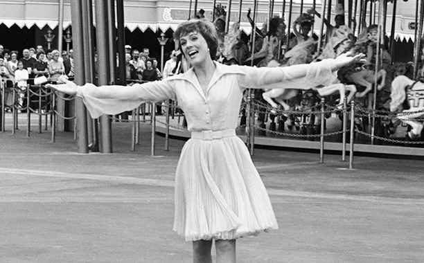 Julie Andrews Performs During Magic Kingdom's Grand Opening