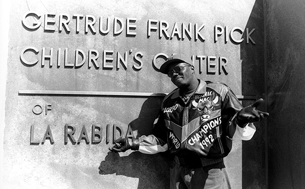 Bernie Mac at the Gertrude Frank Pick Children's Center of La Rabida Hospital in Chicago in March 1994