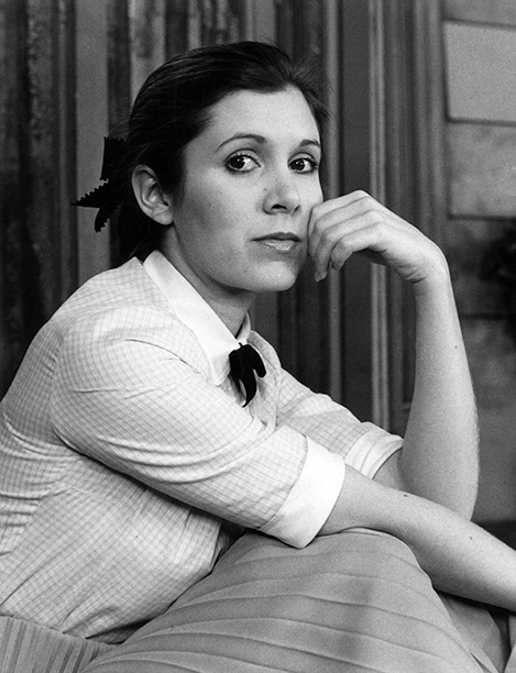Carrie Fisher in 1977