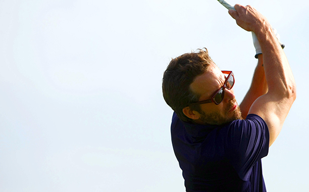 Ryan Reynolds at the Mission Hills Golf Club in Haikou, China on October 21, 2012