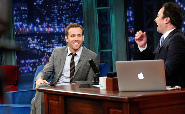 Ryan Reynolds on Late Night with Jimmy Fallon on July 18, 2013