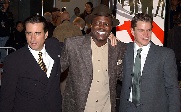 Bernie Mac With Andy Garcia and Matt Damon at the Ocean's Eleven Premiere on December 5, 2001