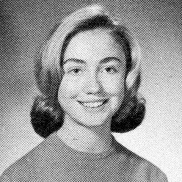 Hillary Rodham at Maine East High School in Park Ridge, Illinois in 1965