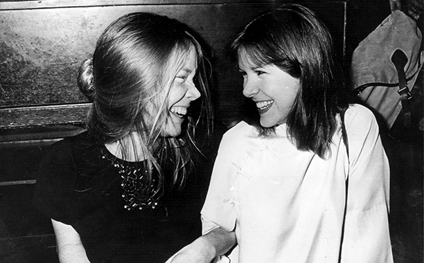 Carrie Fisher With Sissy Spacek at the New York Film Critics Circle Dinner in New York City in 1978
