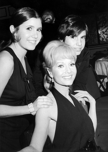 Carrie Fisher With Debbie Reynolds and Todd Fisher at the Opening Night Party for Irene on March 13, 1973