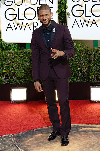Usher at the 71st Annual Golden Globe Awards on January 12, 2014