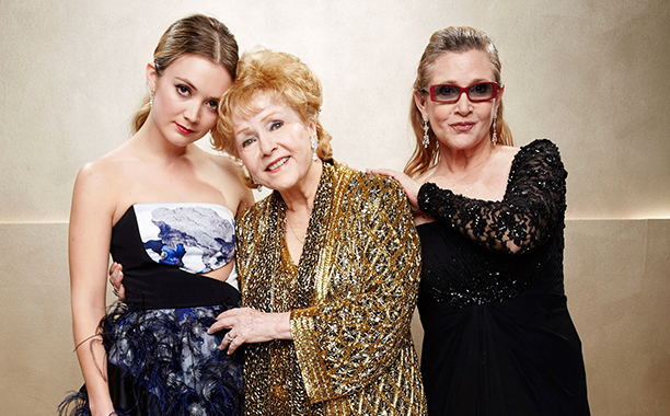 Carrie Fisher With Billie Lourd and Debbie Reynolds at the 21st Annual Screen Actors Guild Awards in Los Angeles on January 25, 2015