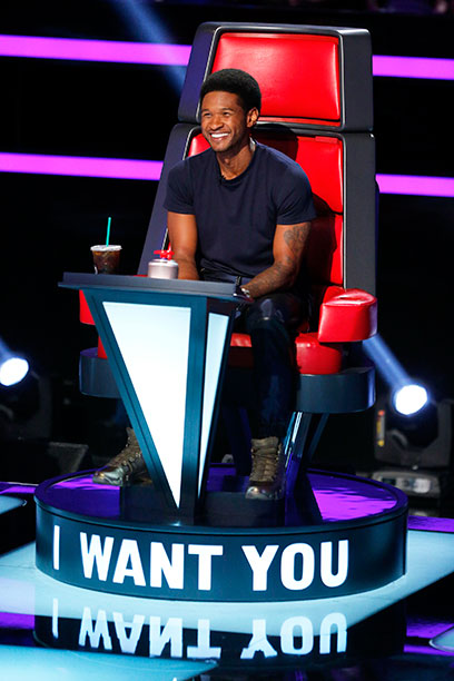 Usher on The Voice on October 13, 2013