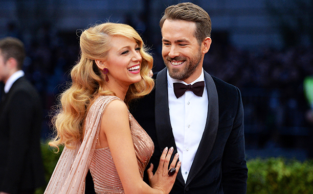 Ryan Reynolds With Blake Lively at the Costume Institute Gala at the Metropolitan Museum of Art in New York City on May 5, 2014