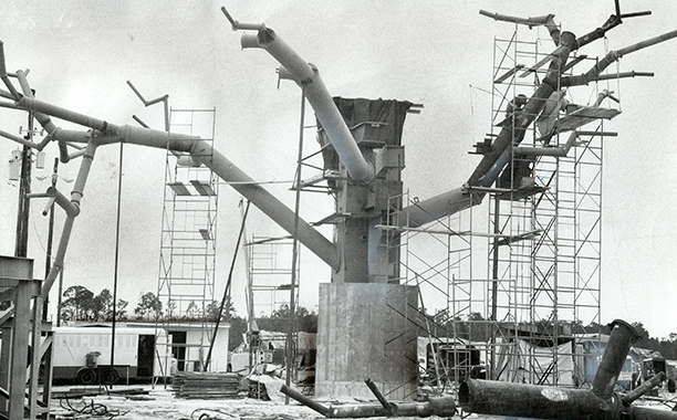 Swiss Family Treehouse Under Construction