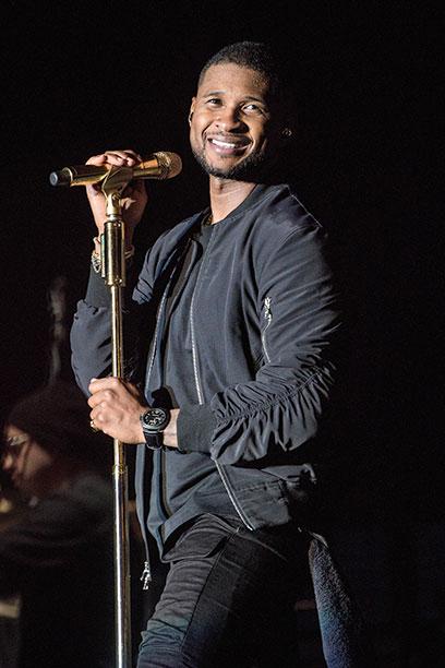 Usher at the 2016 Allstate Fan Fest in New Orleans on December 30, 2015