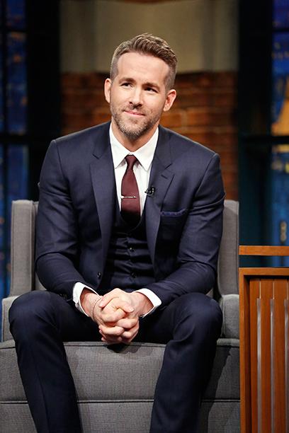 Ryan Reynolds on Late Night with Seth Meyers on February 10, 2016
